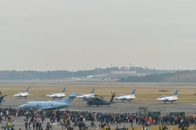 ニュース画像 1枚目:2016年の航空祭、エプロン最前列は混雑