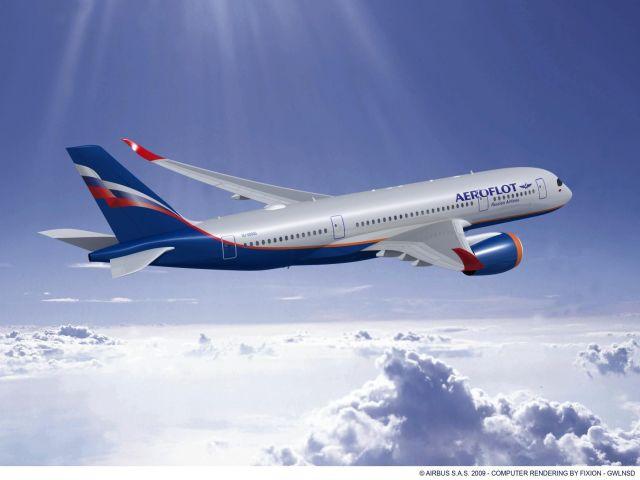 ニュース画像 1枚目:アエロフロート・ロシア航空のA350 イメージ