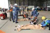 ニュース画像:第5航空群、那覇空港主催の事故対処訓練に参加 関係機関と連携確認