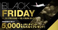 ニュース画像:JALのブラックフライデー、国際線利用で5,000e JALポイント