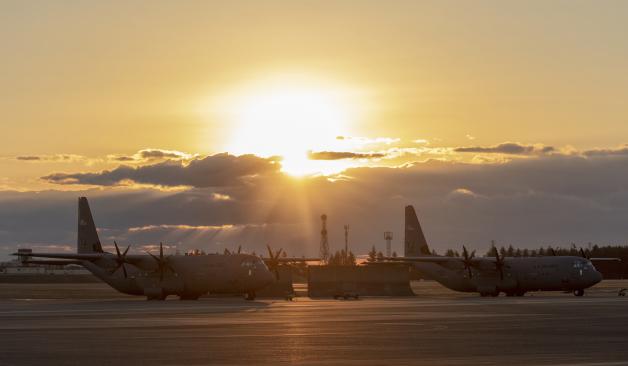 ニュース画像 1枚目:横田基地、2019年1月1日の様子