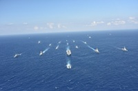ニュース画像:護衛艦「かが」など、自衛隊統合演習に参加 着上陸訓練などを実施