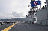 ニュース画像:揚陸強襲艦「アメリカ」、佐世保基地に到着
