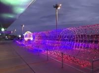 ニュース画像:広島空港、展望デッキでウインターイルミネーション開催 2月末まで