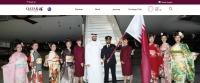 ニュース画像:カタール航空、フラッグ・リレーをサポート 国旗は日本行き便に