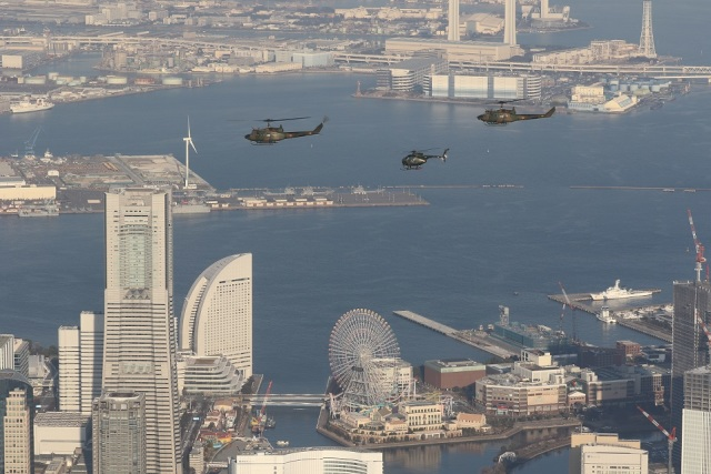 ニュース画像 1枚目:平成31年、航空隊年始編隊飛行訓練
