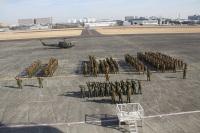 ニュース画像 3枚目:立川駐屯地、年始編隊飛行訓練