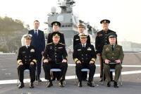 ニュース画像:ロシア海軍司令官、横須賀基地の護衛艦「かが」を訪問