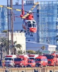 ニュース画像:名古屋市、新春恒例の消防出初式を名古屋港で開催 ヘリ4機参加