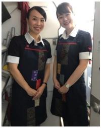 ニュース画像:JAC、3月まで機内で大島紬関連商品をPR 大島紬エプロン着用など