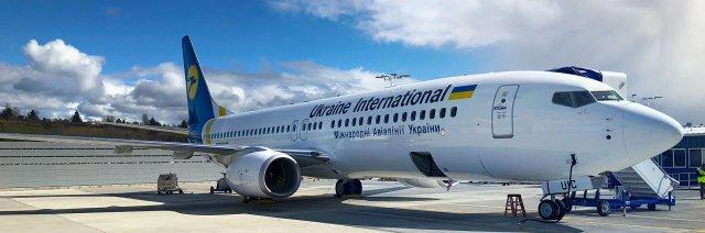 ニュース画像 1枚目:ウクライナ国際航空の737-800