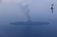 ニュース画像:海保、1月17日に羽田航空基地所属航空機で西之島で噴火活動を観測