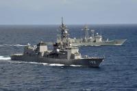 ニュース画像:護衛艦「はるさめ」、アデン湾東方海域でEU海上部隊と共同訓練