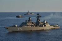 ニュース画像:護衛艦「はるさめ」、ロシア海軍と海賊対処共同訓練 アデン湾で実施