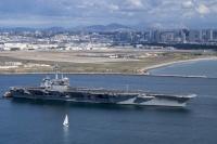 ニュース画像:空母セオドア・ルーズベルト、サンディエゴ出港 インド太平洋地域へ