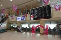 ニュース画像:函館空港、2月14日までバレンタイン装飾を実施