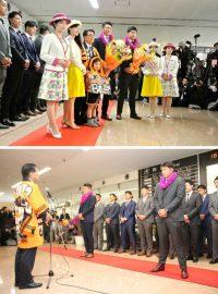 ニュース画像:宮崎空港、トレーニングキャンプで訪問の読売巨人軍の選手を歓迎