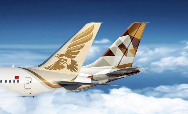 ニュース画像 1枚目:ガルフ・エアとエティハド航空