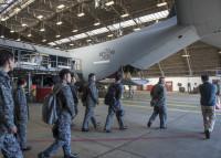 ニュース画像:空自第2輸送航空隊、1月16日に横田基地の第374整備群を視察