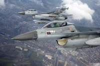 ニュース画像:オランダ空軍のF-16A、ベネルクス三国領空を警備