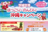 ニュース画像:茨城空港、特産品が当たる「ほっこり・のんびり沖縄キャンペーン」開催