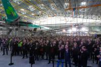 ニュース画像:サベナ・テクニクス、A320を6機同時整備できる新ハンガーを供用
