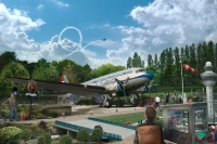 ニュース画像:時空のフライトを楽しむDC-3完全復元したアトラクションが登場