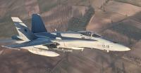 ニュース画像:スペイン空軍F/A-18、機体損傷のエア・カナダ機の緊急着陸を支援