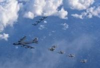 ニュース画像:アメリカ空軍と空自、日本周辺空域で共同訓練