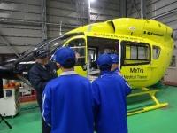 ニュース画像:セントラルヘリコプターサービス、名古屋の中学生による職場体験を受入