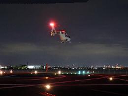 ニュース画像 1枚目:夜間のヘリコプター着陸