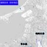 ニュース画像 2枚目:福岡空港と奈多地区の位置関係