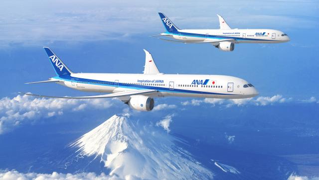 ニュース画像 1枚目:ANA 787-10と787-9