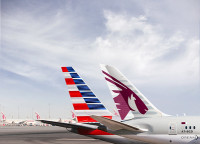 ニュース画像:アメリカンとカタール航空、戦略的パートナーシップとコードシェア提携