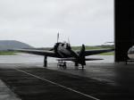 ニュース画像 1枚目:海上自衛隊鹿屋基地ハンガーの零戦22型。ニューギニアで発見された残骸をもとに新造された機体で、エンジンはP&W R1830。