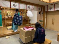 ニュース画像:岡山空港、キャンペーンで集まった願いごとを吉備津神社に奉納