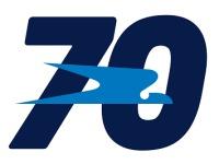 ニュース画像:アルゼンチン航空、設立70周年の記念ロゴを公開