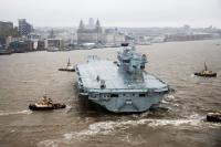 ニュース画像:英空母「プリンス・オブ・ウェールズ」、リバプールを出港
