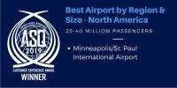 ニュース画像:ミネアポリス空港、ACI空港サービス品質アワードで北米地域部門賞