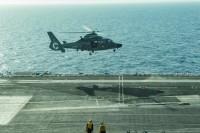 ニュース画像:アメリカとフランス海軍の空母、地中海で共同訓練