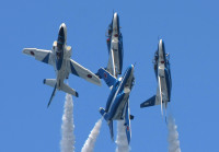 ニュース画像:T-4ブルー3番機745号機、3月20日で用廃 松島に聖火到着後