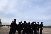 ニュース画像:防府北基地、航空学生課程卒業式でC-2やF-15などが祝賀飛行