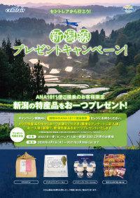 ニュース画像:セントレア、4月から名古屋/新潟線の朝便利用で新潟特産品プレゼント