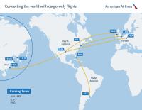 ニュース画像:アメリカン航空、貨物輸送能力を週550万ポンドに増加