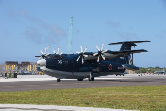 ニュース画像 1枚目:アンダーセン空軍基地でのUS-2「9903」