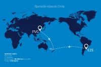 ニュース画像 2枚目:アルゼンチン航空 特別貨物便の運航経路