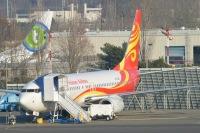 ニュース画像:ボーイング、西安飛機から737 NG向け垂直安定板の3,000台目を受領