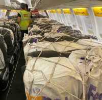 ニュース画像:スパイスジェット、旅客機の座席に貨物積載した国際貨物便を初めて運航