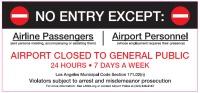 ニュース画像:ロサンゼルス空港、セントラル・ターミナル・エリアのアクセス制限を拡大