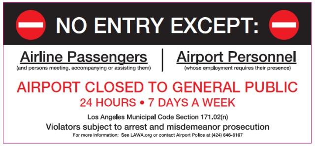 ニュース画像 1枚目:ロサンゼルス空港、セントラル・ターミナル・エリアのアクセス制限を拡大